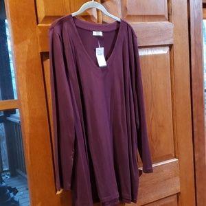 J.Jill soft cotton tunic port wine color XL